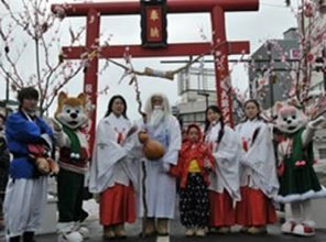 Torii and hall of worship - Odate Amekko Ichi (Candy Festival)