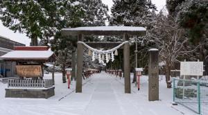 冬の大館神明社